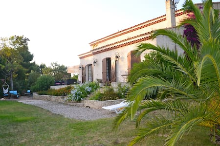 Room, sea, swimming pool, tennis. - Saint-Cyr-sur-Mer - Bed & Breakfast