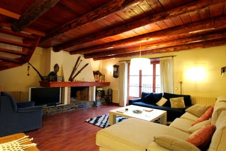 Rustic duplex with fireplace - Arinsal