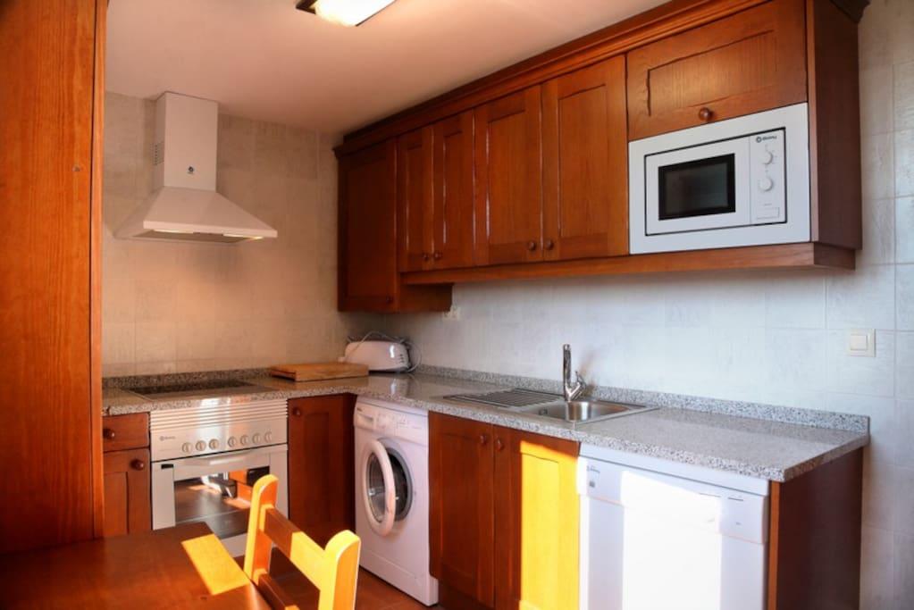 Cocina del apartamento La Solana
