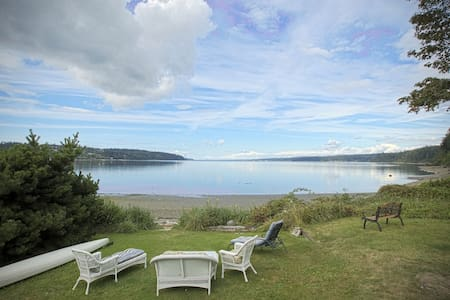 Whidbey Island cute Beach front House - Freeland