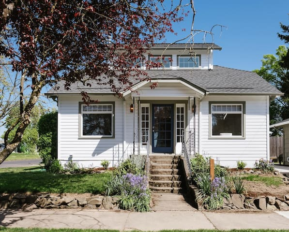Completely remodeled in 2018, the Bungalow is fresh and new but kept its 1920's charm