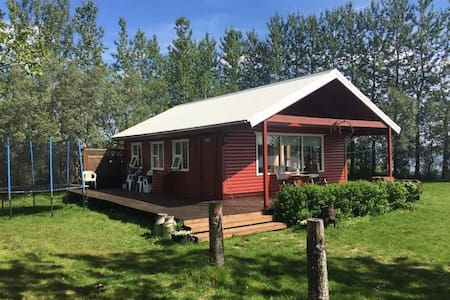 Family friendly cabin by lake at the Golden circle
