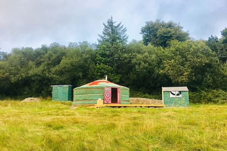 Yurt with stunning views, secluded and relaxing