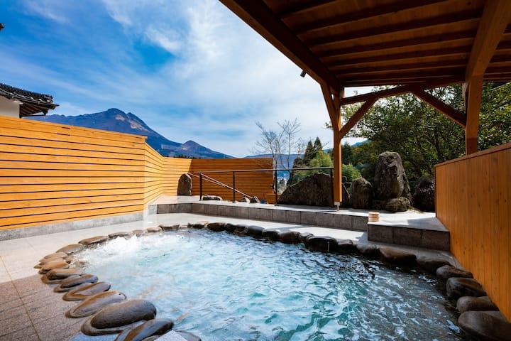 お宿柚木温泉NEWまるで温泉プールみたいな露天風呂♨総檜造りの素敵な2階建て最大20名宿泊可