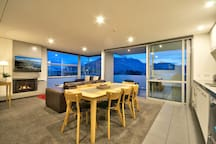 Mountain views from the top floor