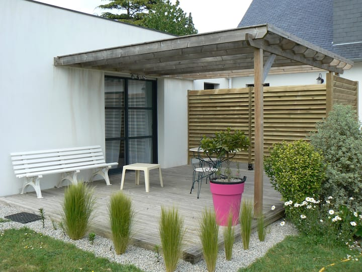 Studio récent à Vannes Golfe du Morbihan au calme
