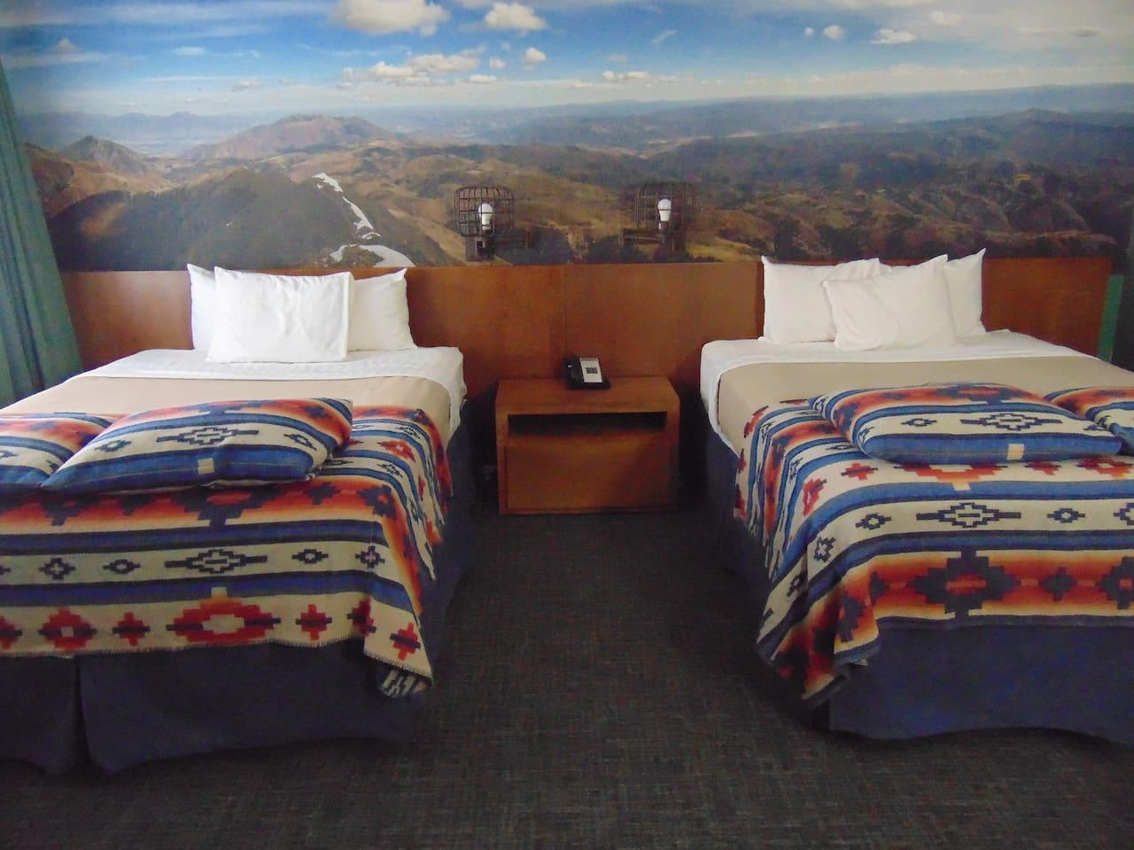Two large queen sized beds