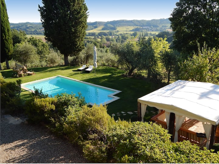 Country house pool, minispa to Siena,Montalcino