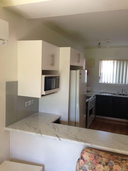 New kitchen / microwave / dishwasher