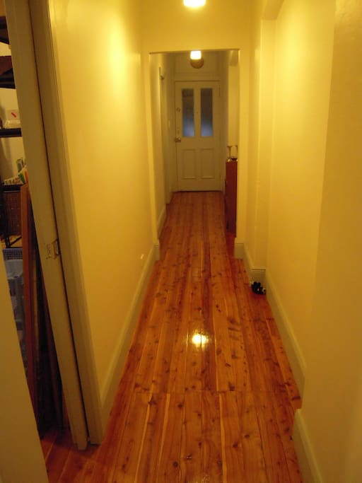 Wooden Floors polished throughout.