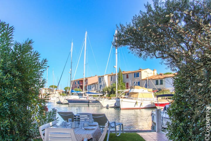House 8 persons & 11m mooring Port Grimaud - Grimaud - Casa