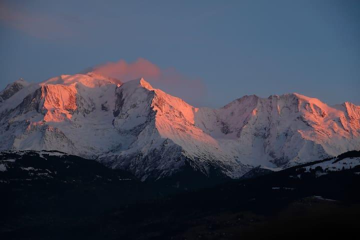 Appartement moderne montagne - vue Mont-Blanc