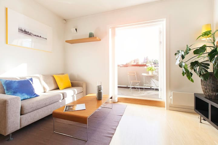 Premium apartment in city center – quiet, parking - Kongsberg - Apartamento