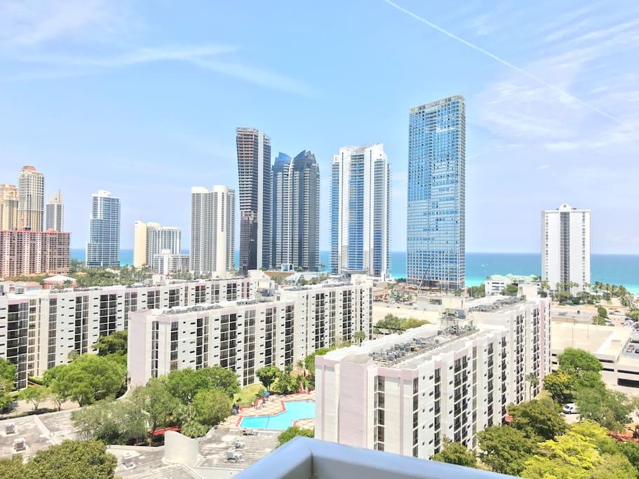 Balcony View Sunny Isles Beach