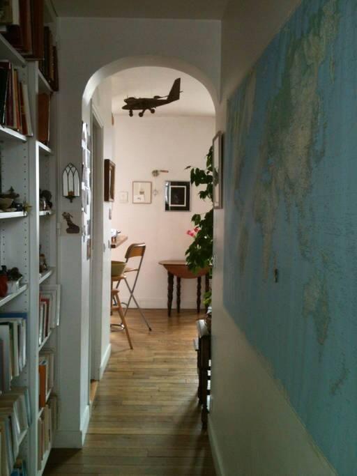 Couloir d'entrée vers le séjour