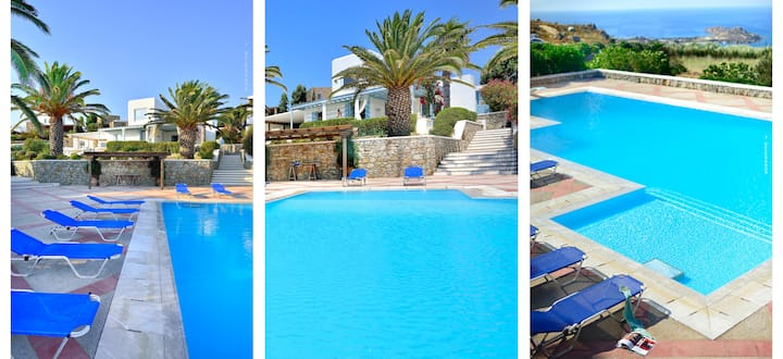 5* infinite sea-view 4 BR,pool and private hot tub