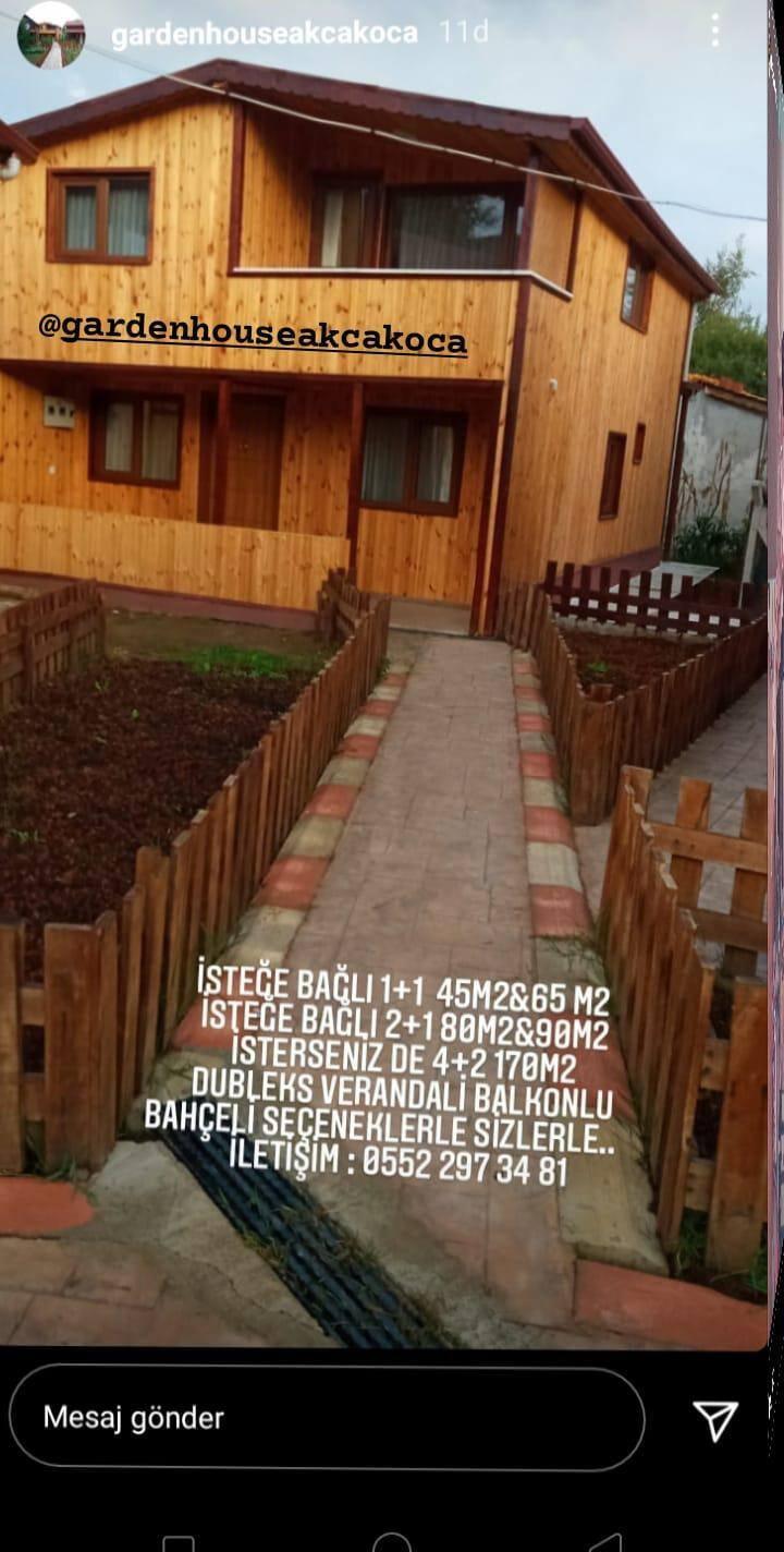 Bahçeli Verandalı Müstakil Dubleks Bungalov