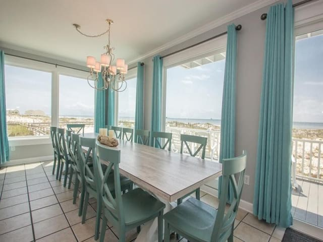 LOW MARCH RATES! Elevator!  5 BR, 5.5 BA Beachfront stunner that sleeps 18.