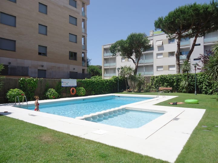 Antillas 2-E(2/4pax) Free Wi-Fi-Pool-100m Beach