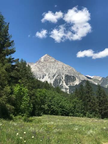 Monte Chaberton. Mount Chaberton.