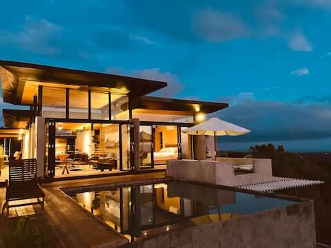 Hytte 1 - luksushytte ved fjellet med utsikt over Batulao