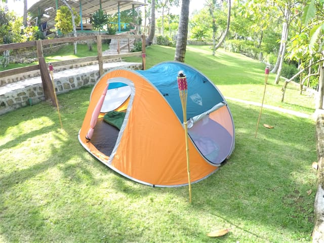Tent for 2 people in the camping area