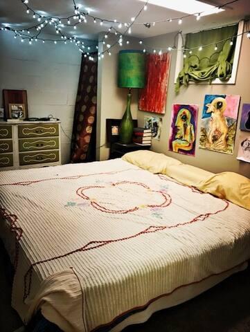 Private bedroom (in basement)