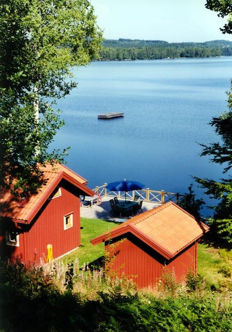 Listed property at Helgasjön in Småland