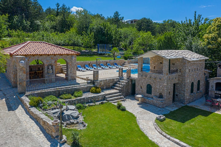 Villa Marchelina Grubine - Beautiful stone villa