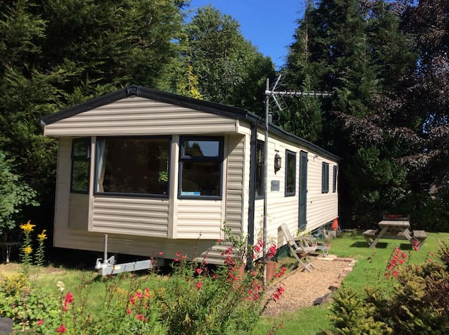 Spacious centrally heated caravan near town centre