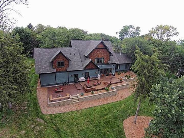 Waterfront property on 3 acres with home theater