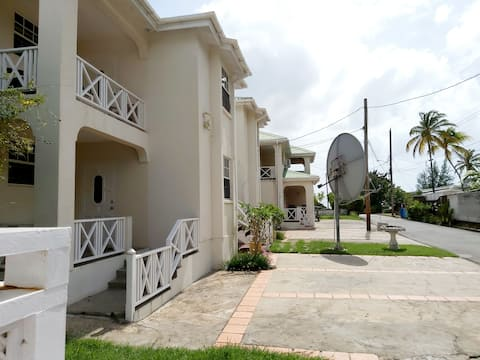 Self catering a/c apartment with maid service