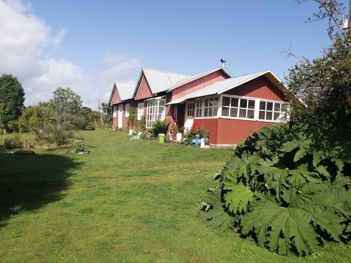 casa rural,en chonchi,chiloe totalmente amoblada