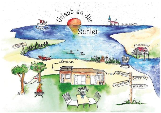 *** Ferienhaus mit Sauna, Strand und Garten ***