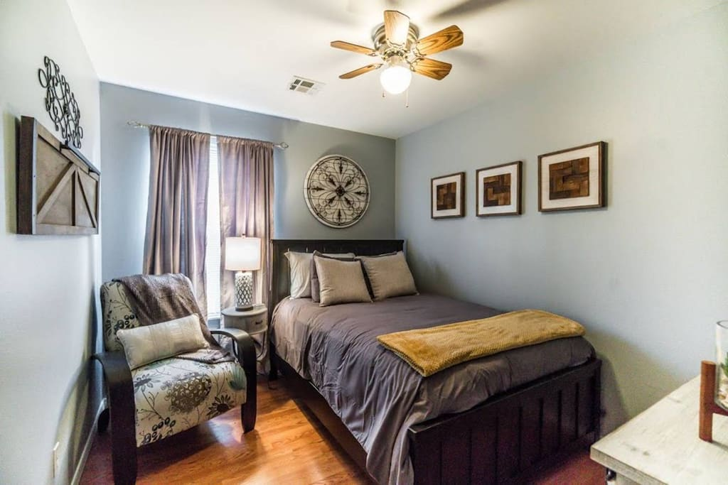 The second bedroom includes a Queen Size bed.