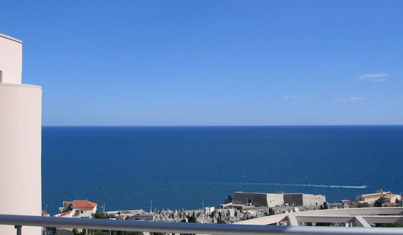 """The """"Graveyard by the Sea"""" and the Vauban Fort, from the apartment"""