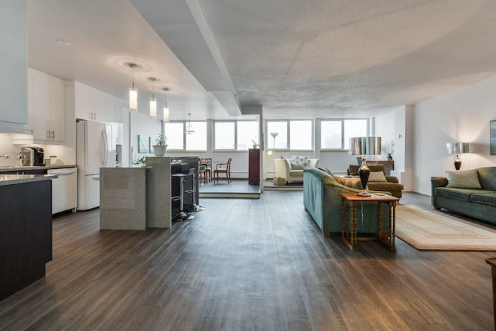 Unique Panoramic 2000 sqft Downtown Penthouse