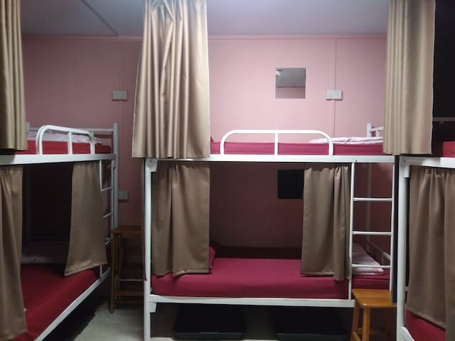 1-bed in 6-Bed female dormitory