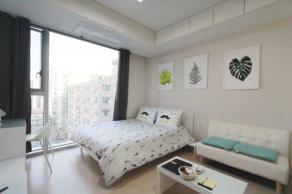 Warm bedroom area