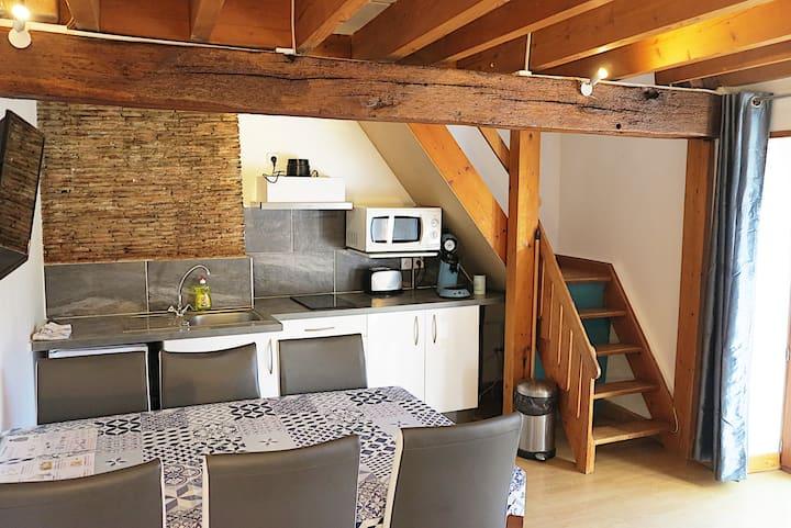 3-room apartment with balcony and garden - Acacias farmhouse