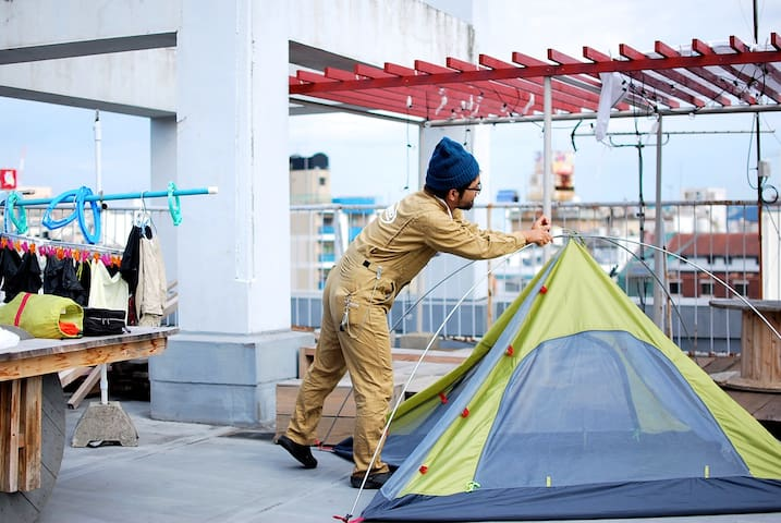 Rooftop Camping in GuesthouseRICO