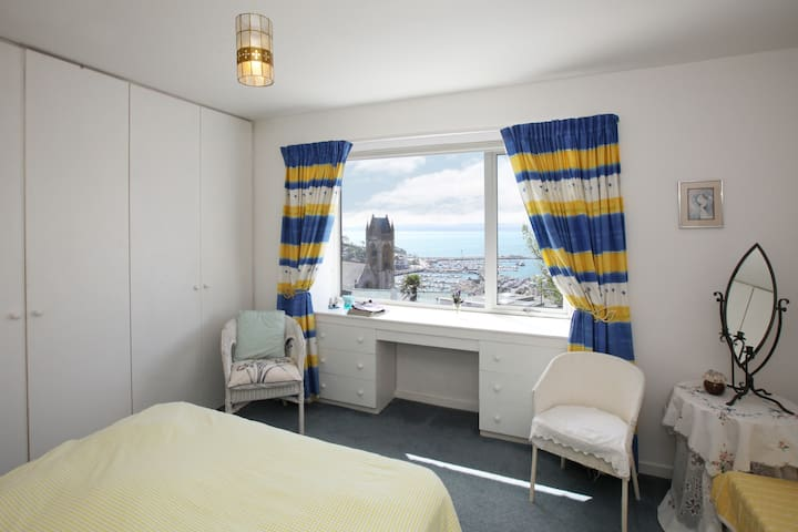 Rosa 2 bedroom.  Spacious and with a king-size bed and tempura mattress.  Lovely sea-views from here.