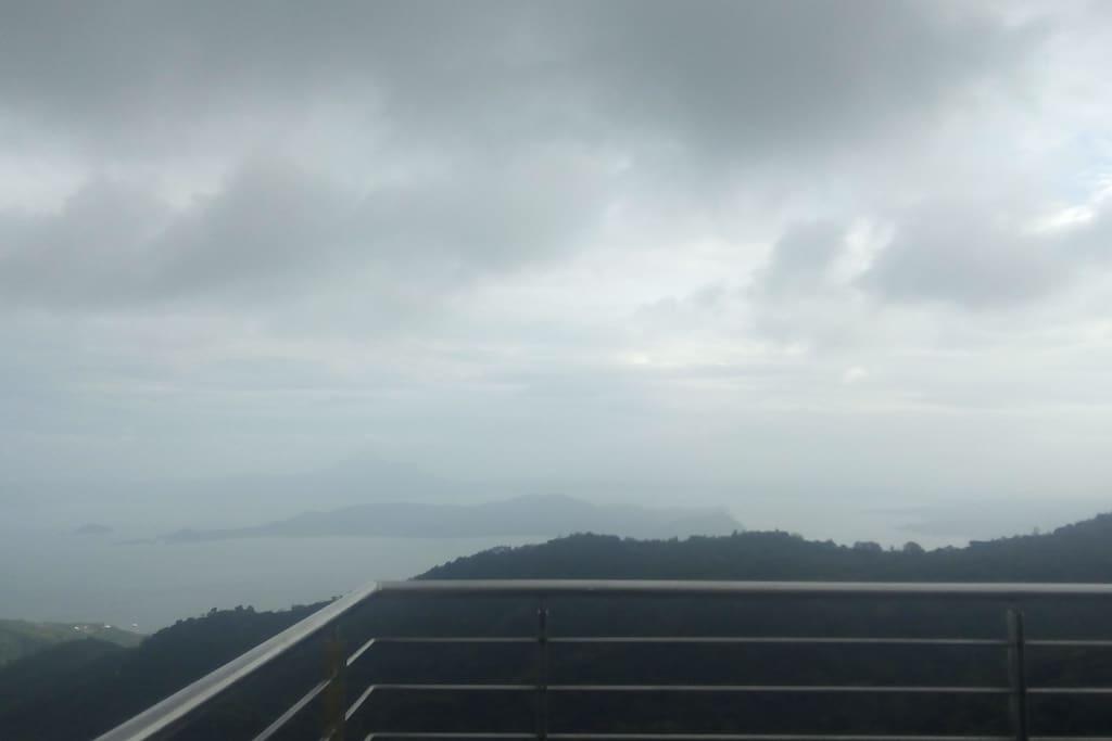 Viewing deck overlooking Taal Volcano & Taal Lake,