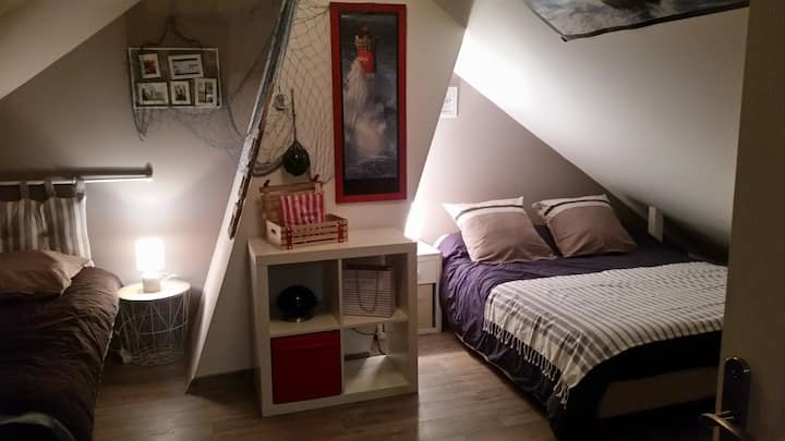 Chambre cosy familiale, calme et agréable