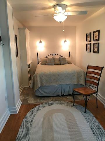 First Floor:  Bedroom Number 1, queen bed