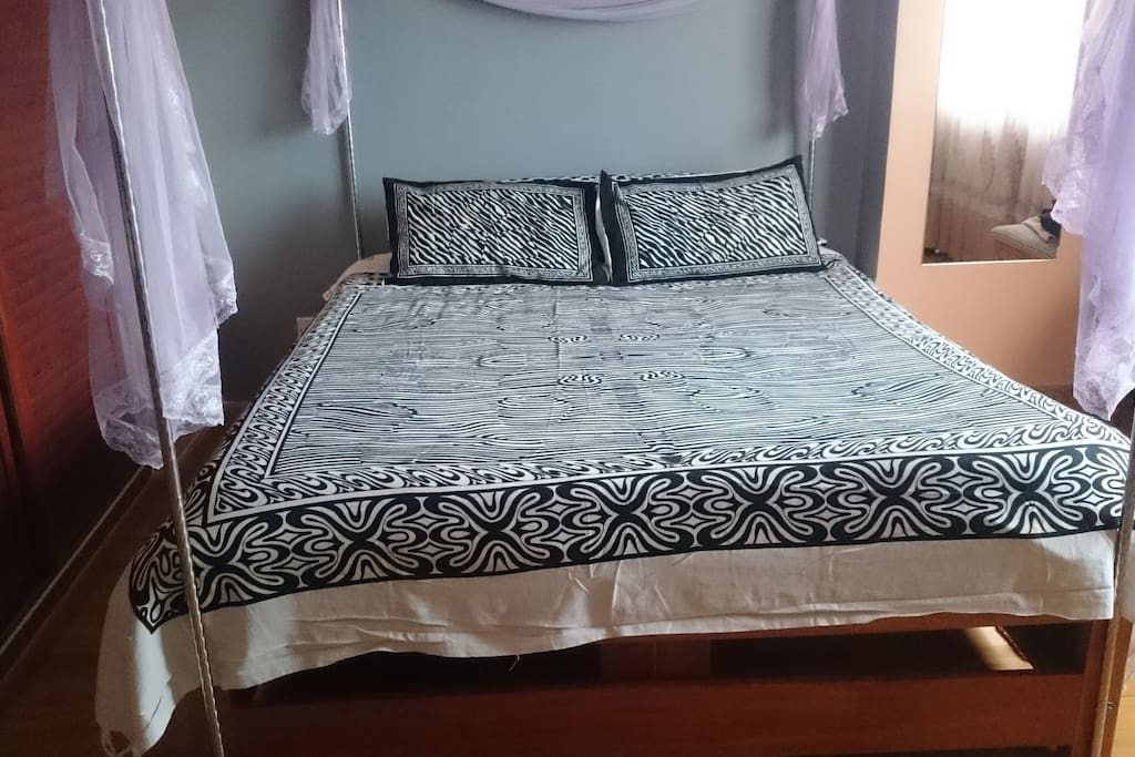 Queen size comfortable beds.   You are assured of quality and cleanliness