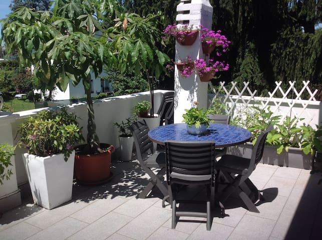 villa accogliente e giardino privato stanza blu