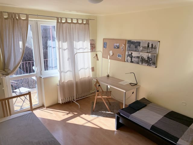 Cozy room in a big house near the castle