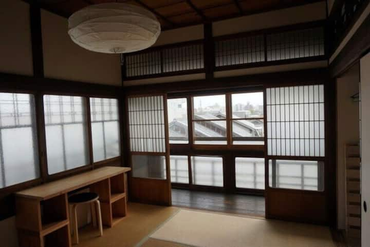 A traditional Japanese house (for females) blue