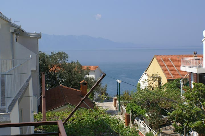 Studio flat with terrace and sea view Podaca, Makarska (AS-516-d)